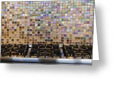 Gas Hob And Tiled Back Splash Greeting Card by Jeremy Woodhouse