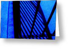 GATED BLUE Greeting Card by Allen n Lehman