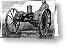GATLING GUN, 1872 Greeting Card by Granger