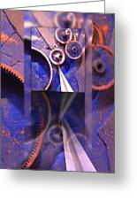 Gear Composition Greeting Card by Ron Schwager