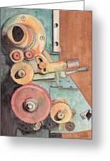 Gears Greeting Card by Ken Powers