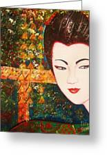Geisha Greeting Card by Anastasis  Anastasi