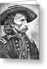 General Custer Greeting Card by Gordon Punt