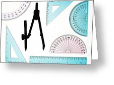 Geometry Set Greeting Card by Lawrence Lawry
