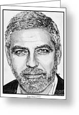 George Clooney In 2009 Greeting Card by J McCombie
