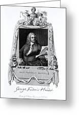 George Frideric Handel, German Baroque Greeting Card by Omikron