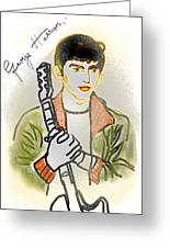 George Harrison - 3 Greeting Card by GooDaCool Gallery