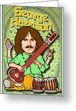 George Harrison Greeting Card by John Goldacker