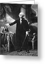 George Washington, 1st American Greeting Card by Omikron