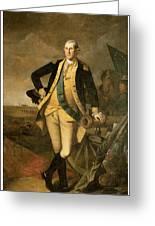 George Washington At Princeton Greeting Card by Charles Wilson Peale