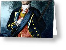George Washington, Virginia Colonel Greeting Card by Photo Researchers, Inc.