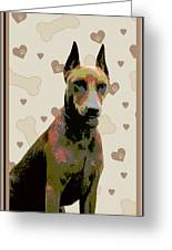 German Pinscher Greeting Card by One Rude Dawg Orcutt