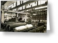 German Rocket Factory, 1943 Greeting Card by Detlev Van Ravenswaay