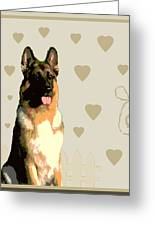 German Shepherd Greeting Card by One Rude Dawg Orcutt