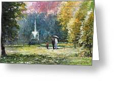Germany Baden-baden Greeting Card by Yuriy  Shevchuk