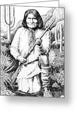 Geronimo Greeting Card by Gordon Punt