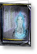 Ghost Stories Haunted Stairs Greeting Card by First Star Art