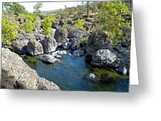 Giant Basalt Boulders Swimming Hole Greeting Card by Frank Wilson