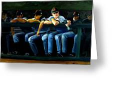 Giants Dugout Greeting Card by Char Wood