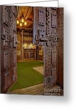 Gillette Castle's Bar Greeting Card by Susan Candelario