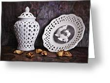 Ginger Jar And Compote Still Life Greeting Card by Tom Mc Nemar