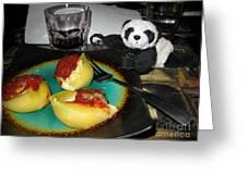 Ginny Can't Wait To Taste Stuffed Shells Greeting Card by Ausra Paulauskaite
