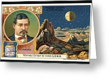 Giovanni Schiaparelli Lunar Advert Greeting Card by Detlev Van Ravenswaay