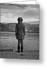 Girl At A Lake Greeting Card by Joana Kruse