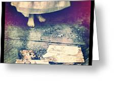 Girl In Abandoned Room Greeting Card by Jill Battaglia
