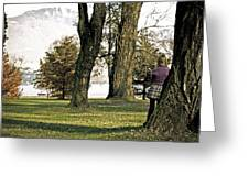 girl in autumn Greeting Card by Joana Kruse