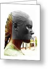 Girl Statue Greeting Card by Stefan Kuhn