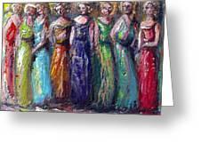 Girls Night Out Greeting Card by Bernadette Krupa