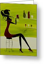 Girl's Night Out Greeting Card by Daniel MacGregor