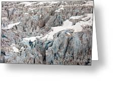 Glacial Crevasses Greeting Card by Mike Reid