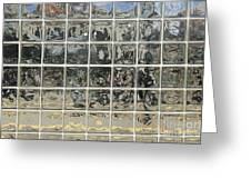 Glass Block Wall Greeting Card by Roberto Westbrook