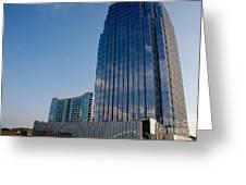 Glass Buildings Nashville Greeting Card by Susanne Van Hulst