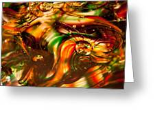 Glass Macro I Greeting Card by David Patterson