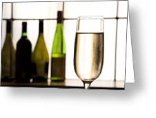 Glass Of Champagne Greeting Card by Charlotte Lake
