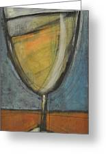 Glass Of White Greeting Card by Tim Nyberg