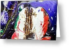 Glass Painting 24 Detail 4 Greeting Card by Patrick Morgan