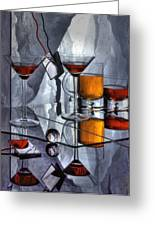 Glass Reflection Greeting Card by Ron Schwager