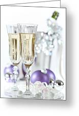 Glasses Of Champagne Greeting Card by Amanda And Christopher Elwell