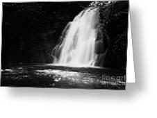 Gleno or Glenoe Waterfall county antrim northern ireland Greeting Card by Joe Fox