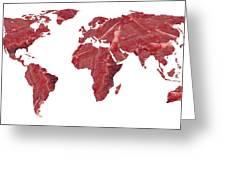 Global Meat Eating, Conceptual Artwork Greeting Card by Victor De Schwanberg