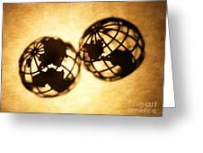 Globe 2 Greeting Card by Tony Cordoza
