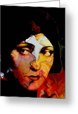 Gloria Swanson Abstract Greeting Card by Stefan Kuhn