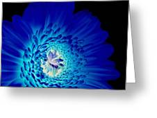 Glow Blue Greeting Card by Lovella Dagum