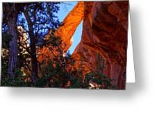 Glowing Arch Greeting Card by Scott McGuire