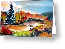 Glowing In Autumn Greeting Card by Mindy Newman