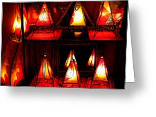 Glowing Lanterns Greeting Card by Rose Pasquarelli